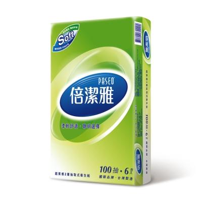 倍潔雅超質感抽取式衛生紙100抽x6包/串