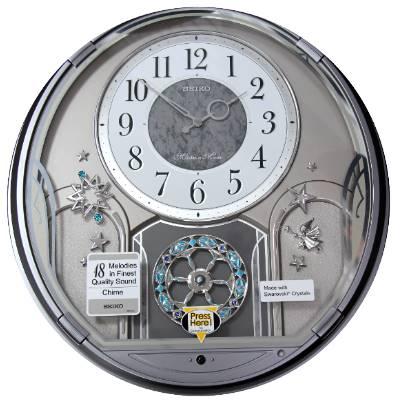 SEIKO 日本精工 整點報時 音樂掛鐘(QXM375S)-灰/41.6X38.5cm