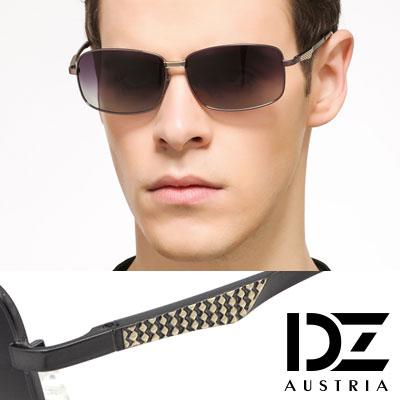 DZ 風尚型男 抗UV 偏光太陽眼鏡墨鏡(槍灰框漸層灰片)