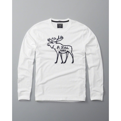 AF a&f Abercrombie & Fitch 長袖 T恤 白色 152