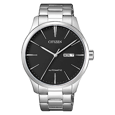 CITIZEN星辰 品味簡單生活自動機械腕錶(NH8350-83E)- 黑/40mm
