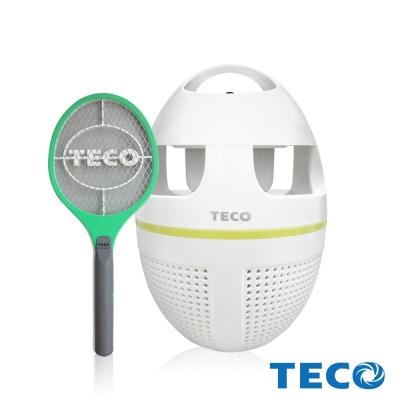 TECO東元 夏季滅蚊超值B組(吸入式捕蚊燈XYFYK5623+電池式電蚊拍)