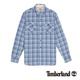 Timberland 男款湛藍色雙口袋格紋長