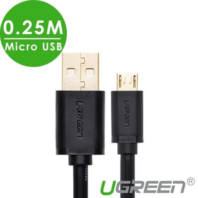 綠聯 Micro USB手機傳輸充電線 0.25M