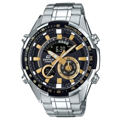 EDIFICE 極速奔騰科技感立體多層次賽車錶(ERA-600D-1A9)金刻47.1mm