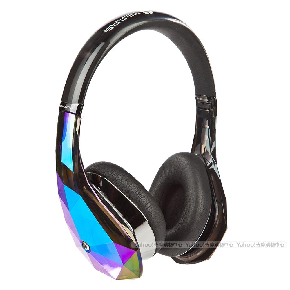 魔聲Monster Diamond Tears Edge黑色 鑽石造型 頭戴可摺疊耳機