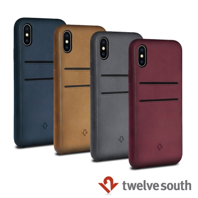 Twelve South Relaxed iPhone X 卡夾皮革保護背蓋