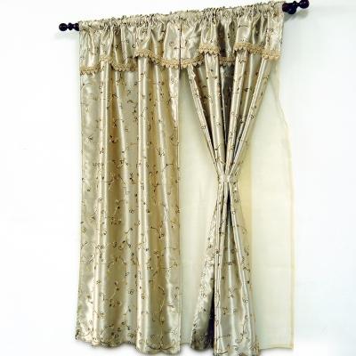 《布安於室》蘿蔓雙層遮光窗簾-古銅色