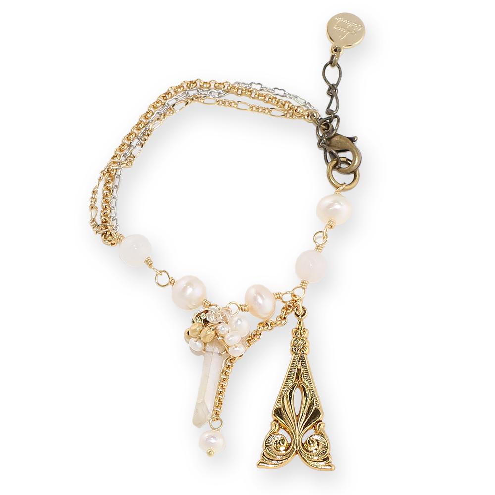 Luce Costante La gemme系列白水晶手鍊