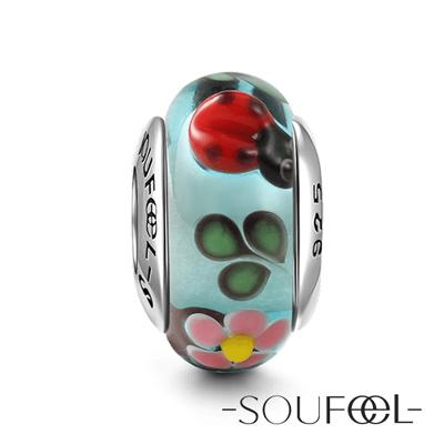 SOUFEEL索菲爾 925純銀珠飾 晚秋 琉璃珠