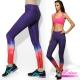運動褲 彈力排汗極光星空健身運動瑜珈褲-赤焰紅(M-XL) LOTUS product thumbnail 1