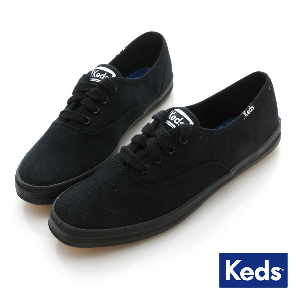 Keds 品牌經典帆布鞋-正黑