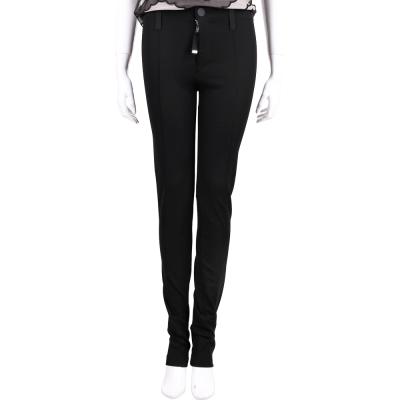 HIGH 黑色金屬環飾窄管長褲