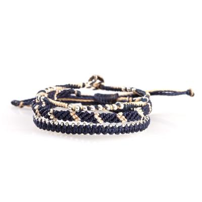 Wakami Star星星經典編織組合手環-藍色