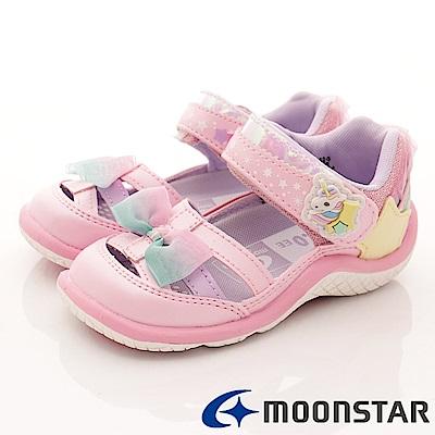 日本月星頂級童鞋 2E護趾涼鞋款 TW2044粉(小童段)