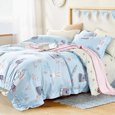 Saint Rose 守望 加大吸濕排汗天絲兩用被套床包四件組
