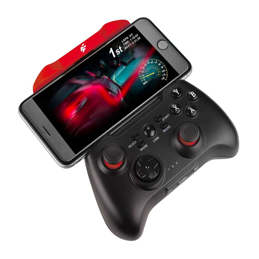 FlashFire HYPER PAD 智慧藍芽遊戲手把-紅黑(BT-3000D-BR)