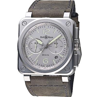 Bell & Ross飛鷹戰士自動計時機械錶(BR0394-GR-ST/SCA)-42mm