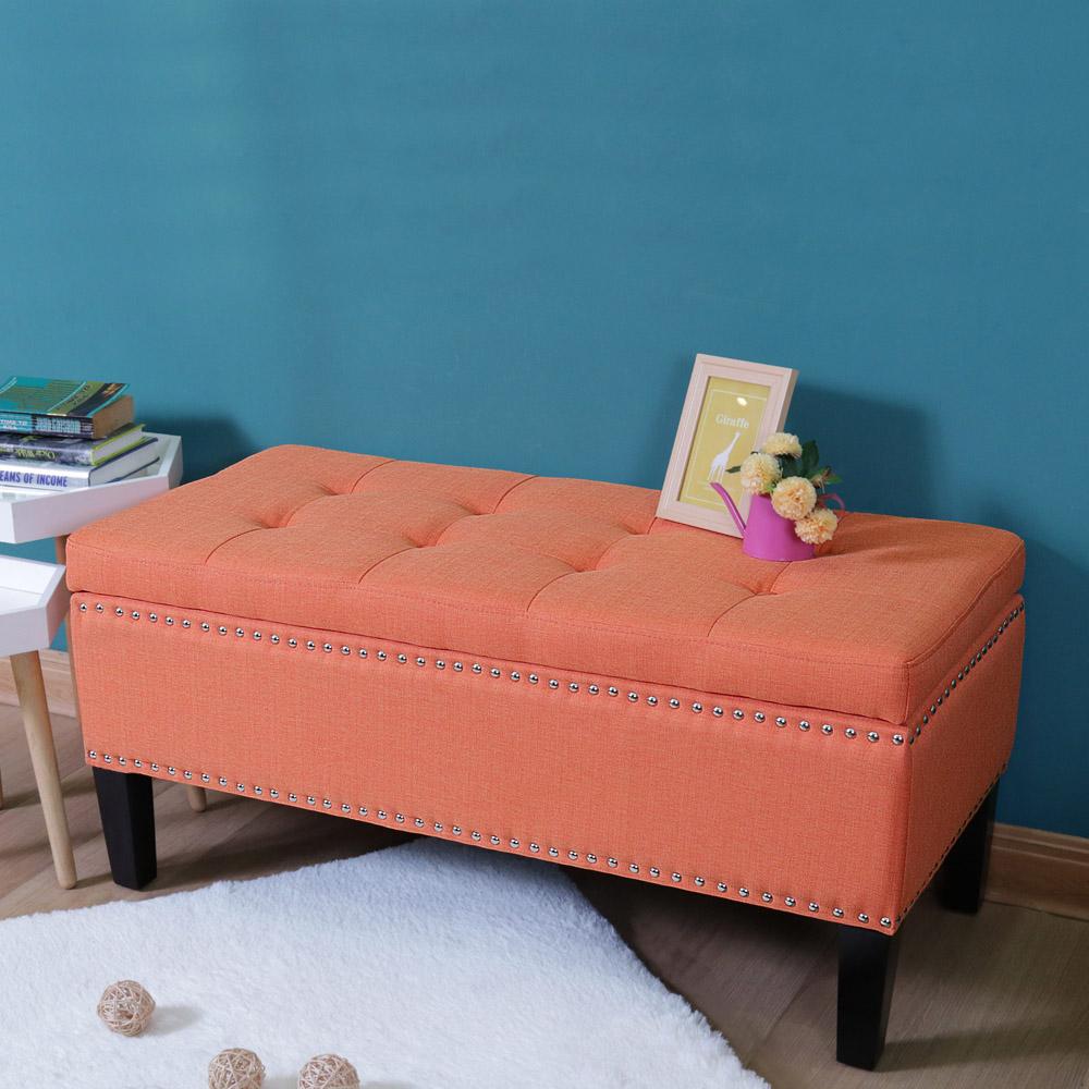 漢妮Hampton 亞維斯儲物長凳-橘色