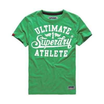 SUPERDRY 極度乾燥 文字短袖 T恤 綠色 0031