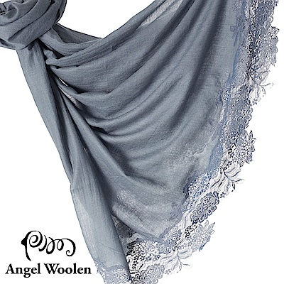 【ANGEL WOOLEN】印度手工法國蕾絲披肩圍巾(蕾絲密語)