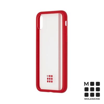 MOLESKINE iPhone X 經典透明保護殼-紅