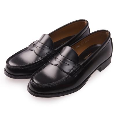 (女)日本 HARUTA 復古經典4514便士皮鞋-黑色