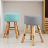 韓國原木馬卡龍小椅凳