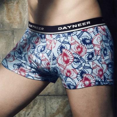 DAYNEER-時尚貼身系列-貝殼印花四角褲-冰沁