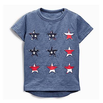 歐美風格兒童純棉短T-美國星星