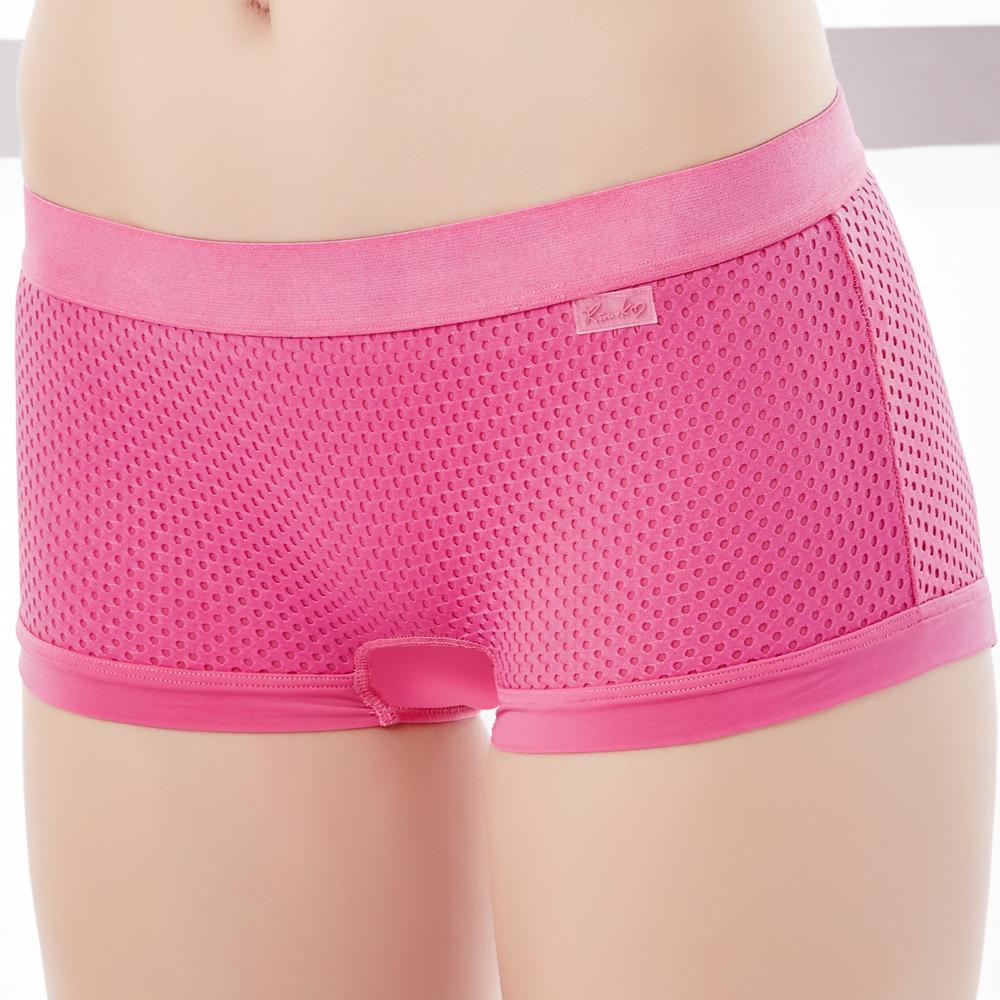 思薇爾 K.K FIT系列M-XL素面中低腰安全褲(活力桃)