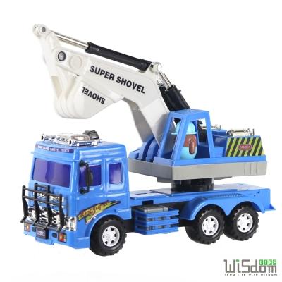 WISDOM 仿真磨輪動力車系列-挖土工程車