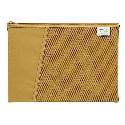 Livework 休閒風尼龍萬用雙層文件袋-芥末黃
