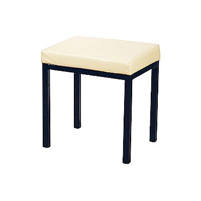 AS-Augus米白色四方鐵椅-40x30x42c