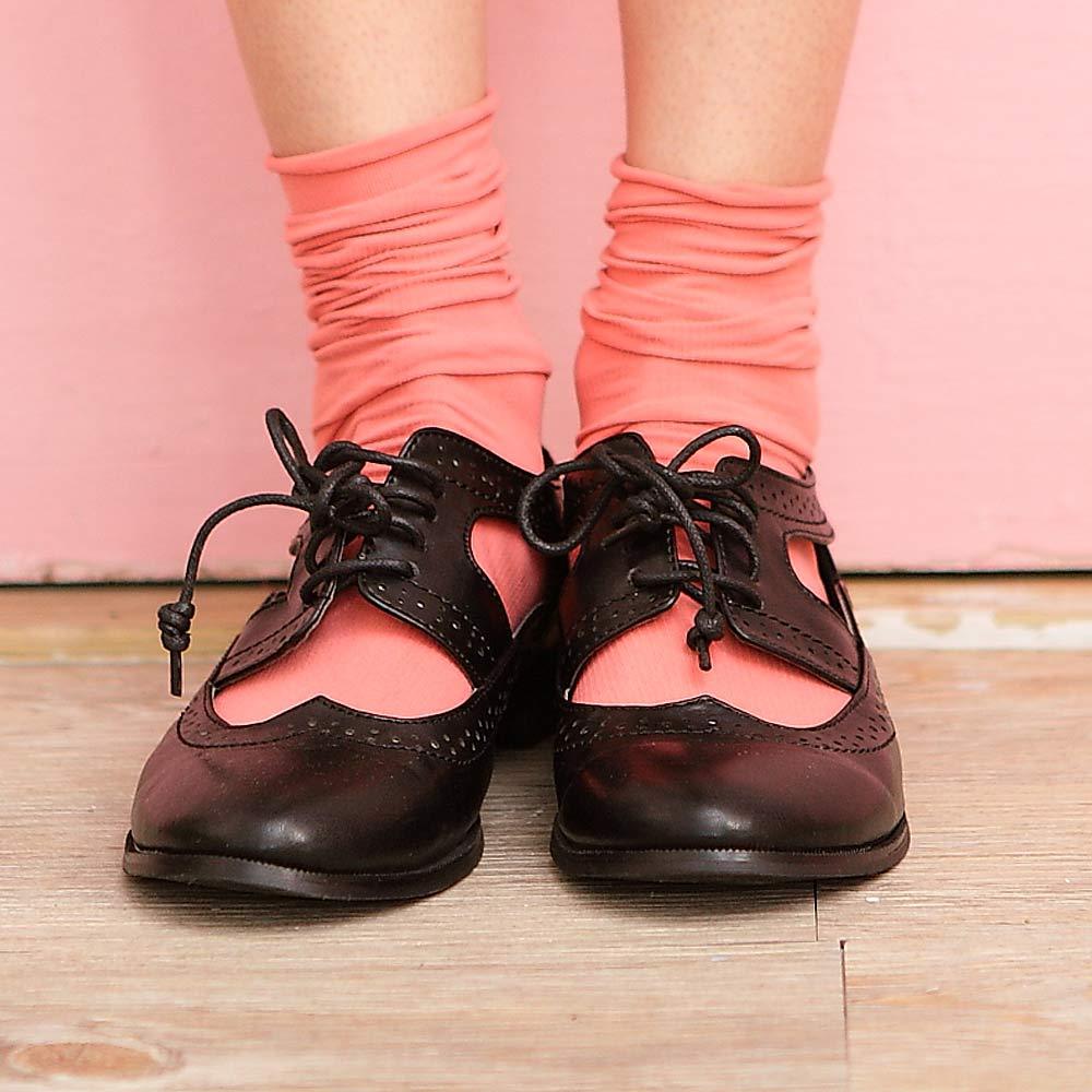 Blossom Gal韓製馬卡龍多彩直紋糖果襪2入組莓紅
