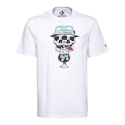 CONVERSE-男休閒短T恤10005905-A01-白