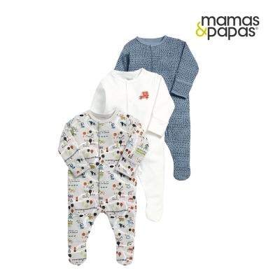 Mamas & Papas WTTW 小鎮地圖連身衣3件組