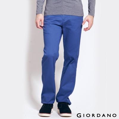 GIORDANO-男裝中腰標準直筒彈性休閒褲-97