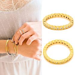 GORJANA CANDICE SHIMMER 整圈鑲圓鑽式設計 金色細版戒指