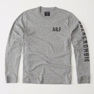 AF a&f Abercrombie & Fitch 長T 灰色 0204