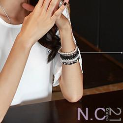 N.C21-韓流個性層次串珠手練五件組 (共二色)