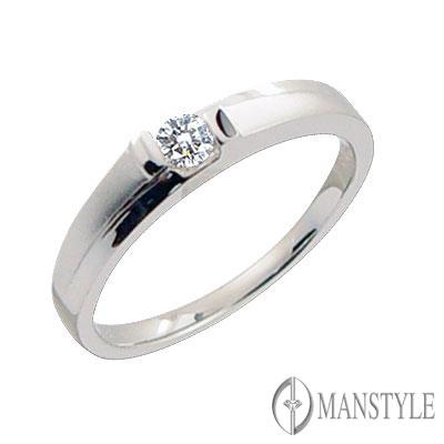 MANSTYLE「與我高飛」0.10ct 鑽石女戒
