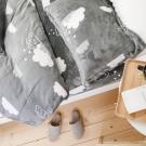 絲薇諾 朵朵泡芙 特大四件式-法蘭絨 床包被套組