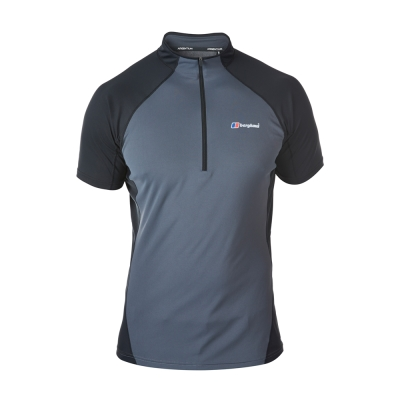 【Berghaus 貝豪斯】男款機能型短袖S04M06-灰黑