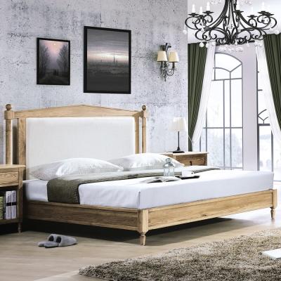 Bernice-諾伊5.3尺白橡全實木雙人床架