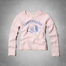 AF a&f Abercrombie & Fitch 女 長袖 T恤 粉 0335