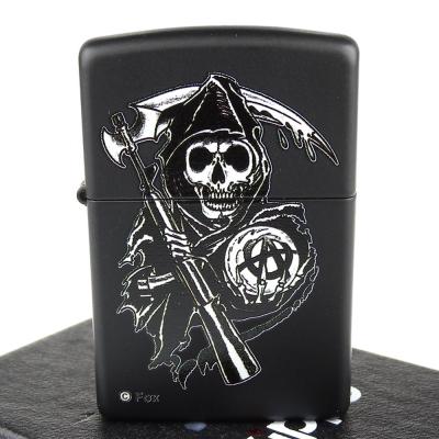 【ZIPPO】美系~Sons Of Anarchy-混亂之子死神圖案膠印打火機