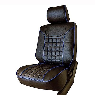 【葵花】量身訂做-汽車椅套-日式合成皮-開運方格A款-休旅車-6-8人座款第1+2+3排