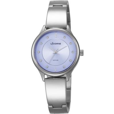 LICORNE 力抗錶 都會女伶時尚女錶-紫/31mm