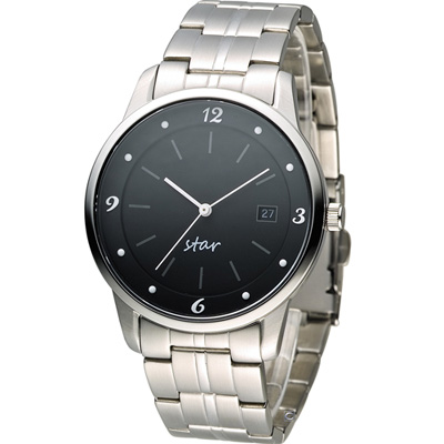 STAR 時代 永恆時光紳士腕錶-黑/40mm